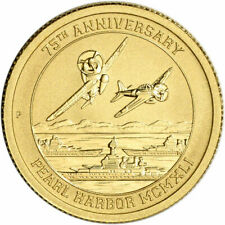 2016 1/10 Gold Perth Mint Coin - 75th Anniversary Of The Attack On Pearl Harbor