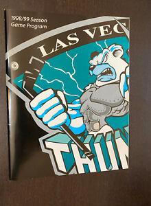 LAS VEGAS THUNDER -- 1998/1999 Season Game Program -- Minor League Hockey