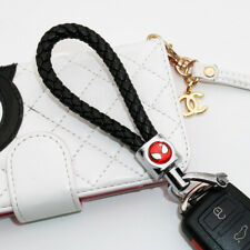 Universal Spiderman Emblem Key Chain Ring Bv Calf Black Leather Gift Decoration Fits More Than One Vehicle