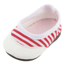 "Casual Red Striped Slip On Shoes Accesorios para 18 ""AG American Doll AG Dolls"