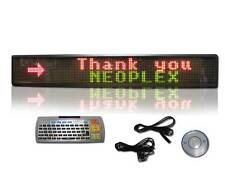 "6"" x 40"" Programmable Scrolling 3 color 2 line Remote LED Message Window Sign"