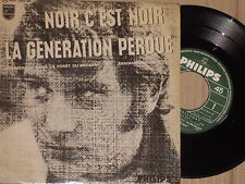 "JOHNNY HALLYDAY -Noir C'Est Noir- 7"" EP 45"