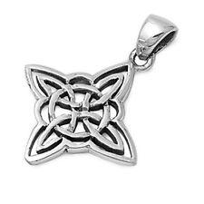 Celtic Star Design Pendant Sterling Silver 925 Eternity Symbol Jewelry Gift