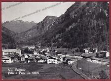 VERBANIA FORMAZZA 144 VALDO - PONTE - OSSOLA Cartolina FOTOGRAFICA viagg. 1968