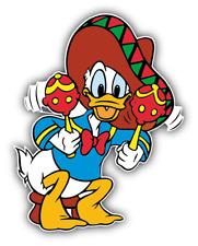 Donald Duck Mexico Cartoon Car Bumper Sticker Decal 5''x 4''