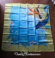 MIP Johnny Was Koi Silk Scarf with Included Scarf Ring XXJWCS1013
