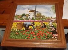 Royal Schwabap Dutch Tile art scene J.C Hernik framed tile art Tulip
