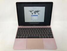MacBook 12 Rose Gold 2017 MNYM2LL/A 1.2GHz m3 8GB 256GB Good - READ