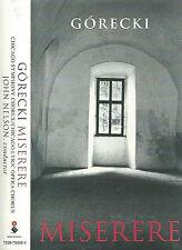 GORECKI MISERERE CASSETTE ALBUM JOHN NELSON CHICAGO CHORUS LUCY DING