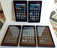 "LOT OF 5 - Amazon 7"" Kindle Fire 7 (7th Gen) 8GB Wi-Fi eReader Tablet SR043KL"