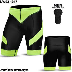 Mens Cycling Shorts Bicycle Road Clothing Bike Biker Coolmax Pad MTB Mountain