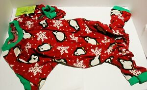 Fitwarm Cute Penguin Christmas Dog Pajamas Jumpsuit - SMALL BREED DOG