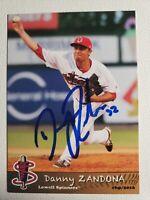 2016 Grandstand Danny Zandona Autograph Card Red Sox Lowell Spinners, Auto