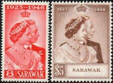Sarawak 1948 KGVI Royal Silver Wedding   SG.165/166 Mint (Lightly Hinged)
