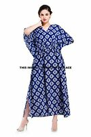 Women Abstract Bikini Cover Up Plus Size Dress Indian Caftan Beach Wear Kaftan