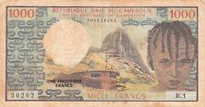 Billet banque CAMEROUN CAMEROON 1000 FRANCS état voir scan 262