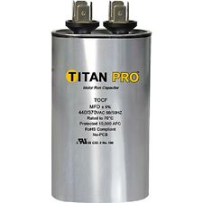 Titan TOCF15 440/370V 15 MFD Dual Rated Oval Run Capacitor - New