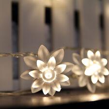 Battery Powered 40 LED 13ft Warm White Flower LED String Fairy Lights :ON+Flash