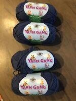 Loops & Threads Yarn Gang Discontinued Lot Of 4 Skeins Denim Cotton Acrylic