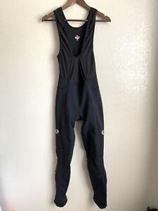 Pearl Izumi Elite Series Softshell Black Padded Cycling Bibs Size Medium