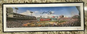 JOHNNY PESKY BEAUTIFULLY HAND SIGNED PANORAMIC OF FENWAY PARK