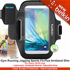 Belkin Sport-Fit Armband Screen Protection Hand Washable Galaxy S6 S6 Edge Black