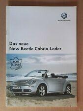 VW           New Beetle Cabrio-Leder         Brochure / Prospekt  2006 !!!