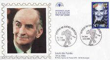 Ancien cadre Louis de Funes-Photo&enveloppe timbre de collection-Années 90
