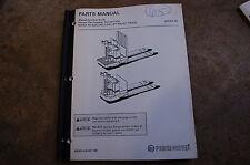 BT Prime Mover MX65 RX65 ELECTRIC PALLET JACK TRUCK Parts Manual catalog book