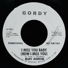 MARV JOHNSON ✦ I Miss You Baby ✦ Rare Soul Promotional 45~GORDY #G-7051I
