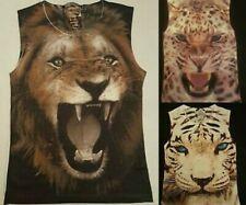 PRIMARK Ladies Girls Festival ANIMAL Vest Top SLEEVELESS T Shirt Tee Top UK 8-14
