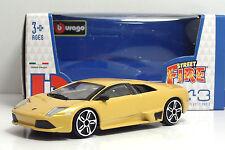 "Bburago 30010 StreetFire Lamborghini Murcielago LP640 ""Giallo"" METAL Scala 1:43"