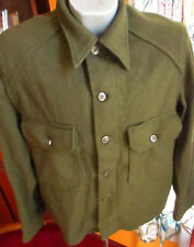 MENS M VTG 50s OG 108 Field Shirt 1952 Military Hunting Olive Green Korean war