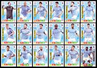 MANCHESTER CITY PREMIER LEAGUE 2019/20 TEAM SET 18 CARDS PANINI ADRENALYN XL