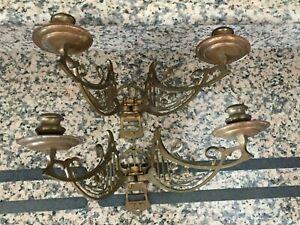 Candelabro da Muro, Porta candela Ottone Bronzo, Girevole