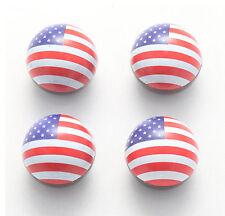 4x Ventilkappen Ventilkappe USA Flagge Flag Fahne Fahrrad Auto Bike America