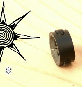 RING MEN LEATHER art and craft ARTISAN ADJUSTABLE Made in Italy !!! AP1M