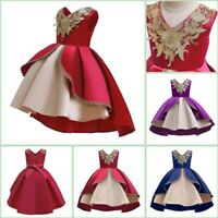 Flower Bridesmaid Tutu Wedding Baby Princess Girl Kid Formal Dresses Party Dress