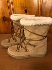 Skechers Women's Ankle Boots Size 7 Suede Leather Faux Fur Lining