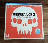 RESISTANCE 3 SURVIVOR EDITION Collector Jeu Sony Playstation 3 PS3 Neuf Scellé