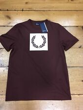 Fred Perry Printed Laurel Wreath T Shirt M3601 Stadium Red - Large