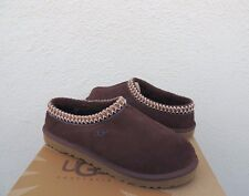 UGG TASMAN CHOCOLATE SUEDE/ SHEEPSKIN SLIPPERS, MEN US 9/ EUR 42 ~NEW