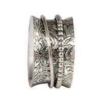 Solid 925 Sterling Silver Spinner Ring Meditation Ring Statement Ring Size Ot28