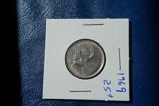 A-197 1969 Canada 25 Cents quarter Queen Elizabeth II