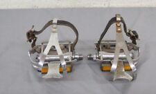 Vintage SR Sakae Metal Platform Pedals w/Metal Cages Reflectors & Avenir Straps