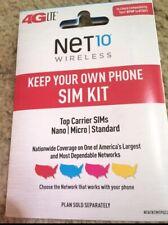 50x Change Your Att Verizon T-Mobile Phone To Net10 Phone 3/1 Sim Card Kit Cdma