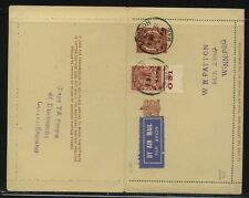 Great Britain postal letter card uprated to Canada nice item Ps0408