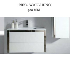 Bathroom Vanity Cabinet Unit 900 MM Wall Hung Ceramic Top with a Ceramic Basin