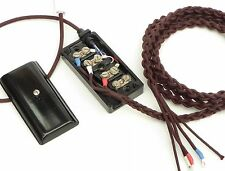 Braided and Plaited Vintage Bakelite GPO Telephone Line Cord + Original BT20/4