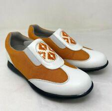 New Sandbaggers Bali Mango Orange Women's Golf Shoes Size 7.5